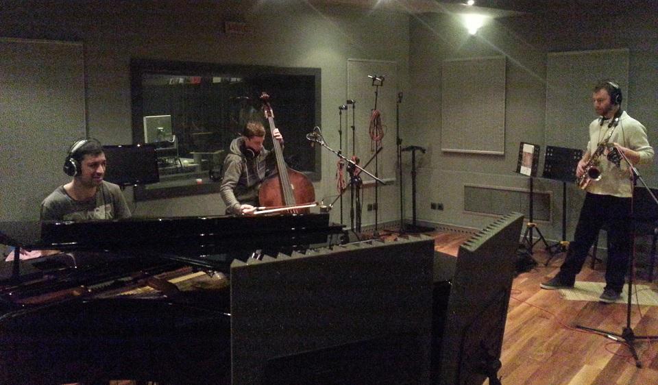Qzama Quartet at recording studio Pekarnata