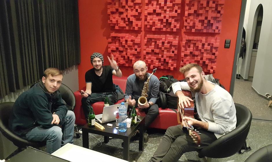 Angel Kovachev and friends at Pekarnata